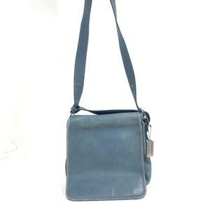 Coach Legacy Blue Flap Messenger Bag 9335